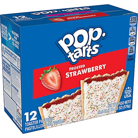 Pop-Tarts Breakfast Toaster Pastries Frosted Strawberry - 20.3 Oz