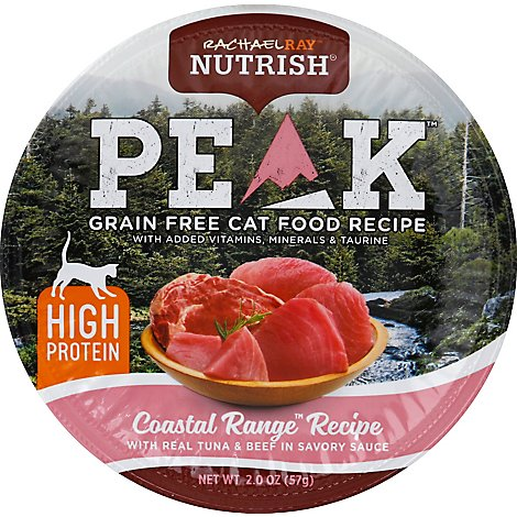 Rachael Ray Nutrish Peak Cat Food Grain Free Coastal Range Recipe - 2 Oz