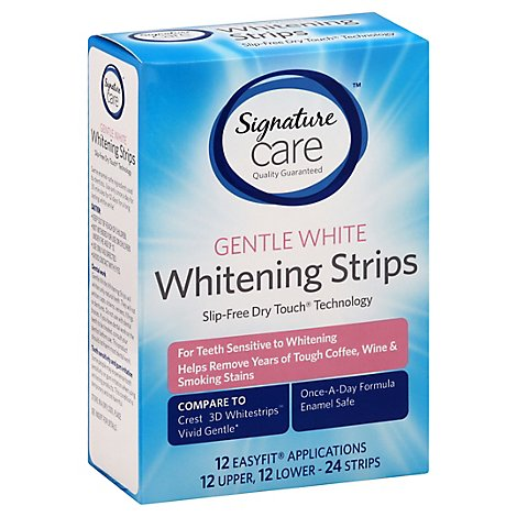Signature Care Whitening Strips Gentle White - 24 Count