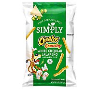 Cheetos Simply Cheese Flavored Snacks Crunchy White Cheddar Jalapeno - 8.5 Oz