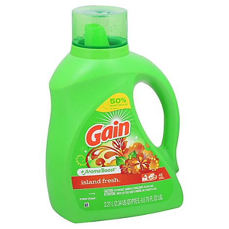 Gain Plus Aroma Boost Laundry Detergent Liquid Island Fresh -75 Fl. Oz.