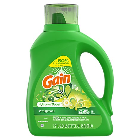 Gain Plus Aroma Boost Laundry Detergent Liquid Original - 75 Fl. Oz.