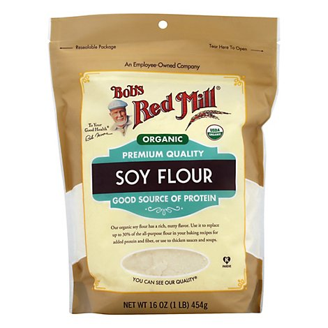 Bobs Red Mill Organic Flour Soy - 16 Oz