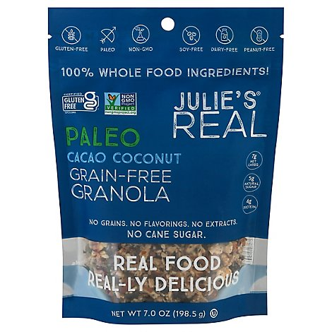 Julies Real Granola Cacao Ccnt - 7 Oz