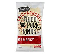 Signature SELECT Fried Pork Rinds Hot And Spicy - 5 Oz