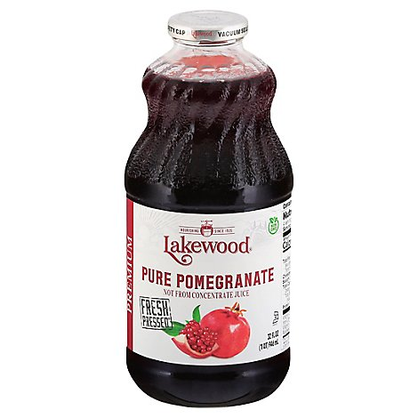 Lakewood Juice Pure Pomegranate - 32 Fl. Oz.