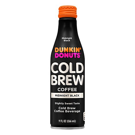 Dunkin Donuts Cold Brew Midnight Black Bottle - 9 Fl. Oz.