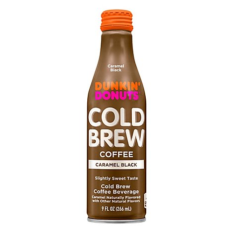 Dunkin Donuts Cold Brew Caramel Black Bottle - 9 Fl. Oz.