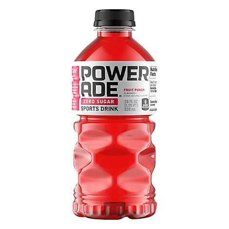 POWERADE Sports Drink Zero Sugar Fruit Punch - 28 Fl. Oz.