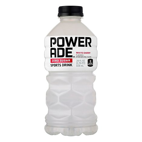 POWERADE Sports Drink Zero Sugar White Cherry - 28 Fl. Oz.