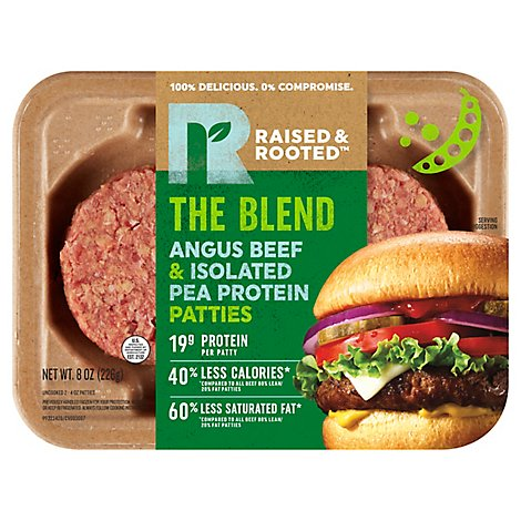 The Blend Angus Beef And Isolated Pea Protein Patties - 8 Oz
