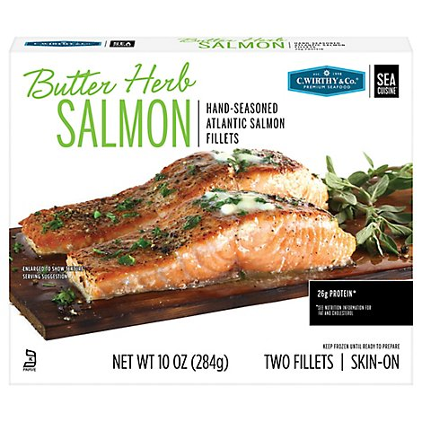 C.wirthy Butter Herb Salmon Portions - 10 Oz