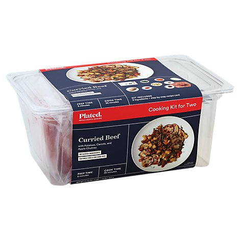 Plated Cooking Kit For Two Curried Beef - 33.54 Oz