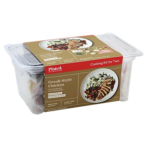 Plated Cooking Kit For Two Greek Style Chicken - 30.5 Oz