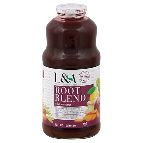 L&A Juice Root Blend With Turmeric - 32 Fl. Oz.