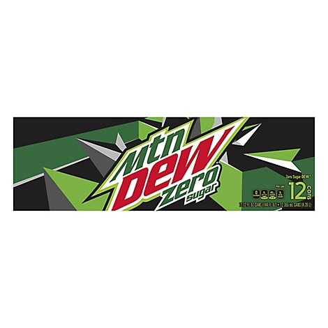 Mountain Dew Soda Zero Sugar Cans - 12-12 Fl. Oz.