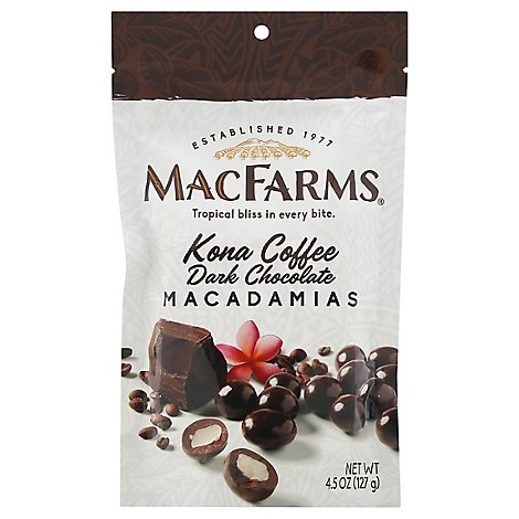 MacFarms Macadamias Kona Coffee Dark Chocolate - 4.5 Oz