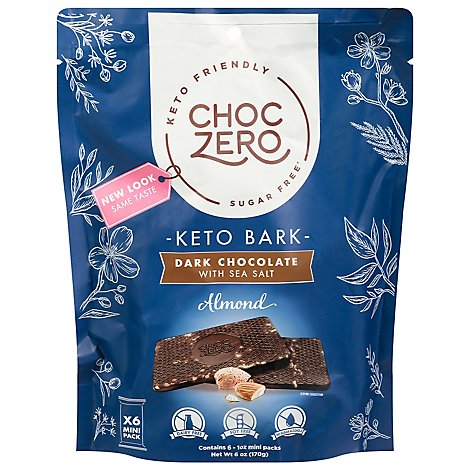 Choczero Bark Dark Chocolate Almond - 6 Oz