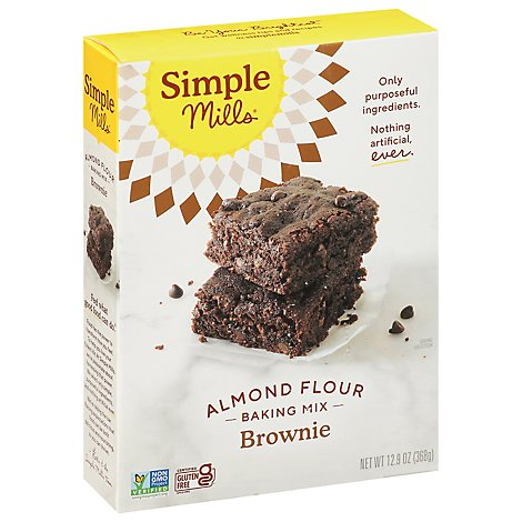 Simple Mills Almond Flour Mix Gluten Free Brownie - 12.9 Oz