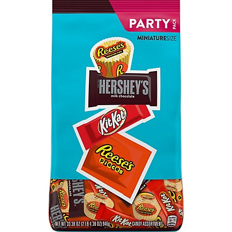 HERSHEYS Chocolate Candy Assortment Miniature Size Party Pack - 33.38 Oz