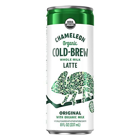 Chameleon Coffee Organic Cold Brew Whole Milk Latte Original - 8 Fl. Oz.