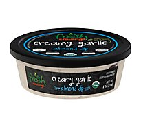 Fresh Cravings Organic Creamy Garlic Almond Dip - 8 Oz