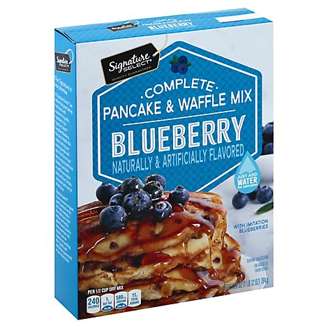 Signature Select Pancake & Waffle Mix Blueberry - 28 Oz