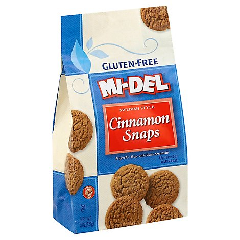 MI-DEL Cookie Snaps Gluten Free Swedish Style Cinnamon - 8 Oz