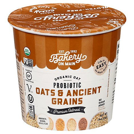 Bakery On Main Oatmeal Cup Ancient Grain - 1.9 Oz