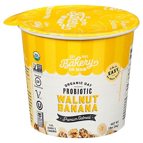 Bakery On Main Walnut Banana Organic Oats - 1.9 Oz
