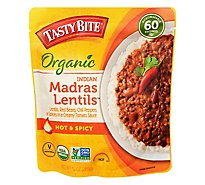 Tasty Bite Organic Indian Madras Lentils Hot & Spicy - 10 Oz