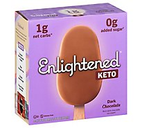 Enlightened Keto Collection Ice Cream Bars Dark Chocolate - 4-3.75 Fl. Oz.