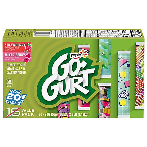 Yodelay Yogurt Swiss Peach Raspberry - 5.3 Oz