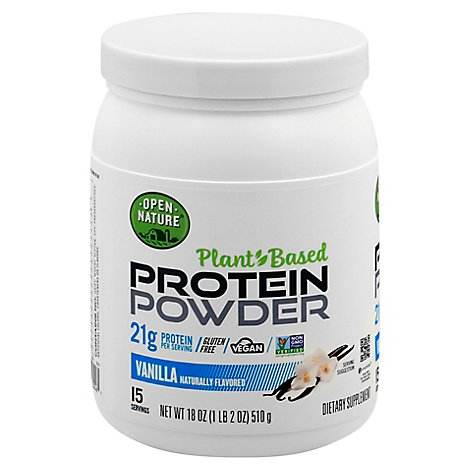 Open Nature Vanilla Plant Based Protein Powder - 18 Oz