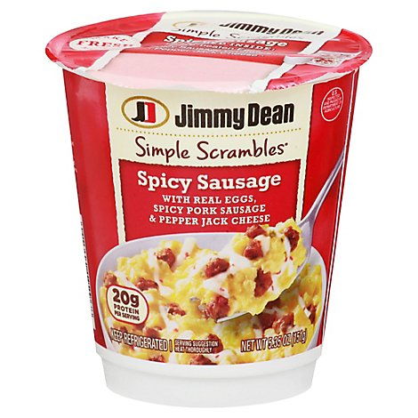 Jimmy Dean Simple Scrambles Spicy Sausage Breakfast Cups - 5.35 Oz
