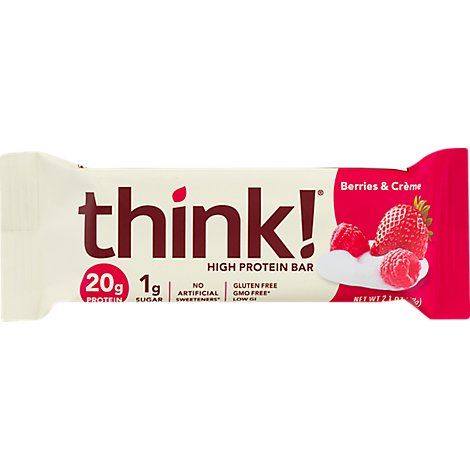 Think High Protein Berries & Creme Bar - 2.1 Oz