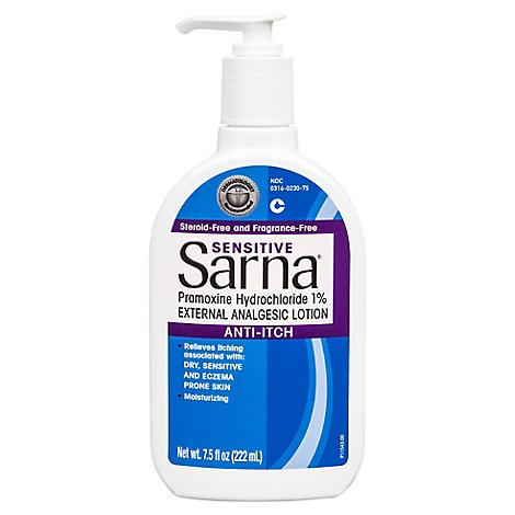 Sarna Sensitive Anti Itch Lotion - 7.5 Fl. Oz.