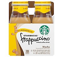 Starbucks frappuccino Coffee Drink Chilled Mocha Almond Milk - 4-9.5 Fl. Oz.