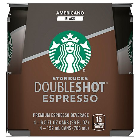 Starbucks Double Shot Espresso Americano - 4-6.5 Oz