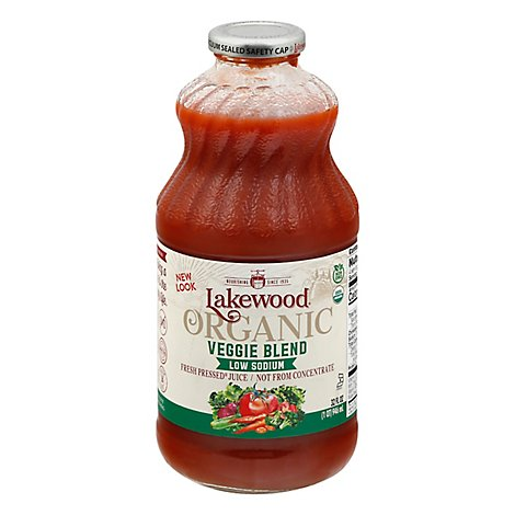 Lakewood Juice Organic Low Sodium Veggie Blend - 32 Fl. Oz.