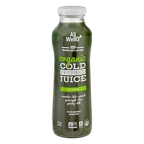 Allwello Juice Go Green Org - 11.1 Fl. Oz.