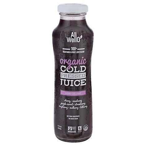 Allwello Juice Berry Delight Org - 11.1 Fl. Oz.