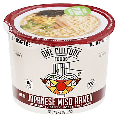 One Cltr Foods Noodles Miso Shoyu Broth - 3.7 Oz