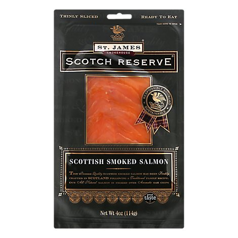 Scotch Reserve Salmon Atlantic Cold Smoked Oak - 4 Oz
