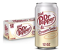 Dr Pepper Cream Soda Diet - 12-12 Fl. Oz.