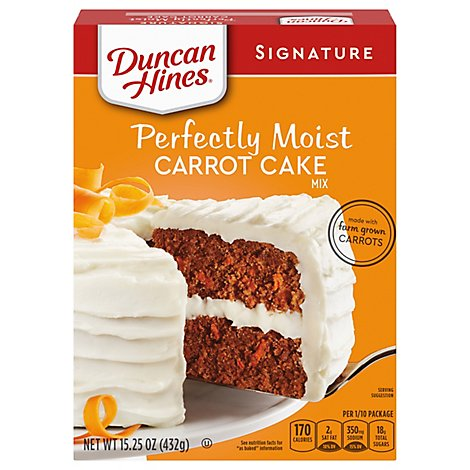 Duncan Hines Signature Carrot Cake Mix - 15.25 Oz