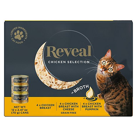 Reveal Cat Food Grain Free Chicken Selection In Broth - 12-2.47 Oz