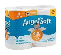 Angel Soft Toilet Paper Base 4 Mega Rolls - 181.13 Sq. Ft.