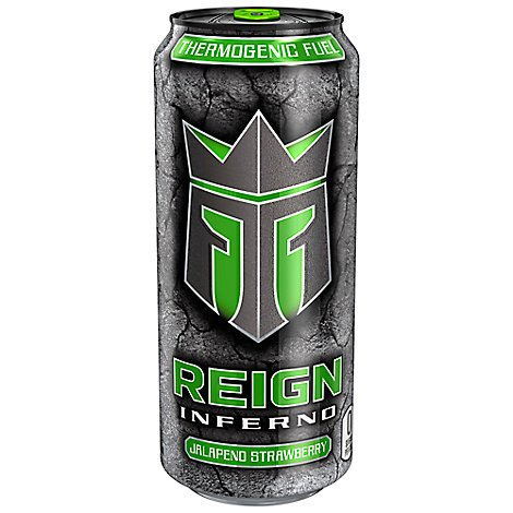 Reign Inferno Jalapeno Strawberry Energy Drink - 16 Fl. Oz.