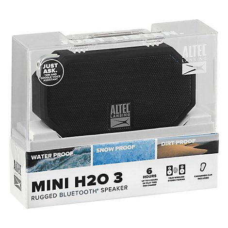Mini H20 3 Bluetooth Speaker Black Color - Each